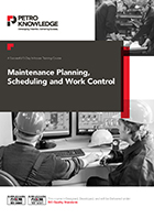 Maintenance Planning, Scheduling and Work Control