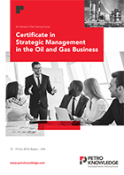 Certificate in Strategic Management  in the Oil and Gas Business