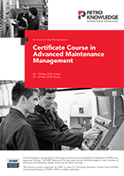 Certificate Course in  Advanced Maintenance Management