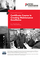 Certificate Course in Creating Maintenance Excellence