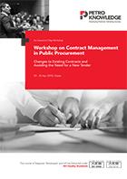 Workshop on Contract Management  in Public Procurement