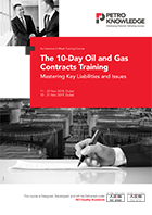 The 10-Day Oil and Gas Contracts Training