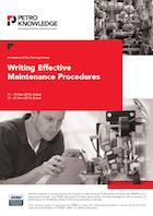 Writing Effective Maintenance Procedures