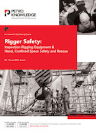 Rigger Safety: Inspection Rigging Equipment & Hand, Confined Space Safety and Rescue