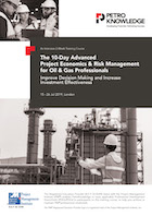 The 10-Day Advanced Project Economics & Risk Management for Oil & Gas Professionals