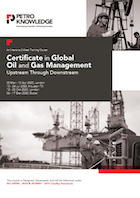 Certificate in Global Oil and Gas Management
