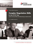 Complex Negotiation Skills in the Oil & Gas
